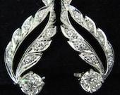 Old European Cut Diamonds Platinum Earrings Vintage Estate Certified nd Appraised 6460