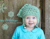 Crochet Xmas Hat Pattern: 'Jingle Bell Rock', Christmas Crochet Earflap Hat, Holiday fashion, Jingle Bells