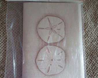 Bridge Tallies, Sherman's Two-Table Tallies, Hand Crafted Sand Dollar Art, Ephemera, New Old Stock