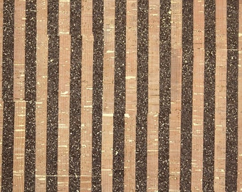 Retro Cork Wallpaper by the Yard 70s Vintage Cork Wallpaper - 1970s Cork Wallpaper made in Japan Metallic Gold and Cork Stripe