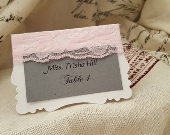 Lace Table place cards
