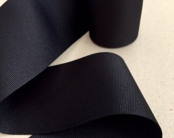 Black Grosgrain Ribbon Sash