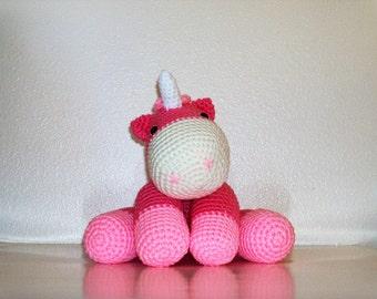 Cuddly Pink Unicorn (Finished Doll)