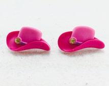 Cowgirl Hat Earrings, Country Girl Earrings, Western Wear Earrings, Cowboy Hat Earrings, Horse Lover Earrings, Rodeo Earrings
