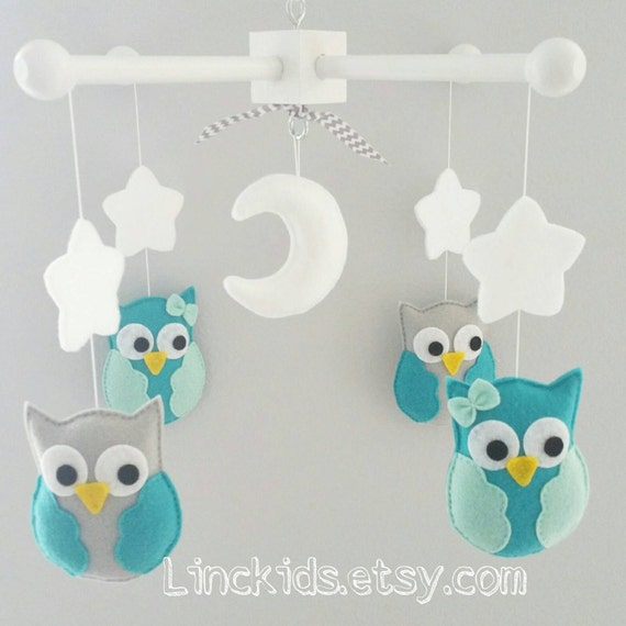 Baby Crib Mobile - Owl Mobile- Custom Made Mobile