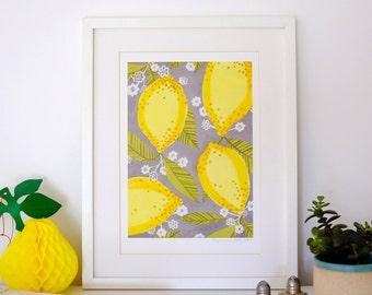 A4 Giclee print: Lemons