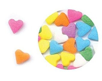 Pastel Hearts Valentines Day Edible Confetti Sprinkles Cake Cookie Cupcake  1 Pound
