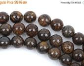 ON SALE 8mm Round BRONZITE Gemstone Beads, Full strand, about 50 beads, gbr0002