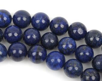 Full Strand Round LAPIS LAZULI  Beads 11mm   gla0007