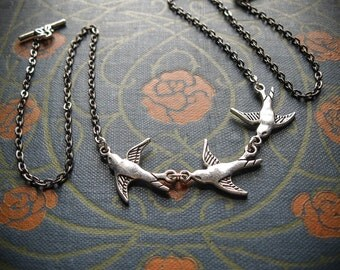 Flock of Birds Necklace with Choice of Formation. Duet, Trio or Quartet ATS® Belly Dance Inspired.
