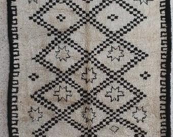 Beni Ourain BO21162  ANTIQUE Beniourain, Beniouarain, beni ouarain  vintage berber rug  morocco