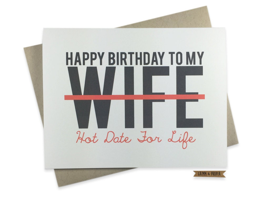 Wife Birthday Card Funny Love For Her Sexy Wife Date – Happy Birthday Cards for My Wife