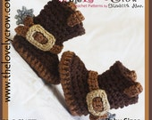 Crochet Pattern Cowboy Boots BABY SIZES