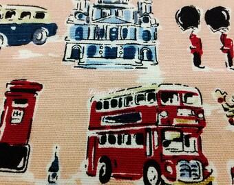 About London, peach, 1/2 yard, pure cotton fabric