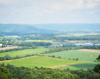 Mountain Farm Field Photography Print 11x14 Fine Art Pennsylvania Rolling Hills Summer Landscape Photography Print.