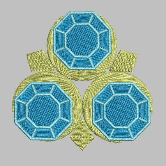 Zelda Machine Embroidery Design Zora Saphire 4x4