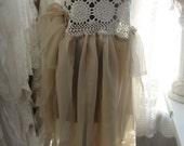 Gypsy bohemian shabby chic babydoll lace whimsy fairy romantic