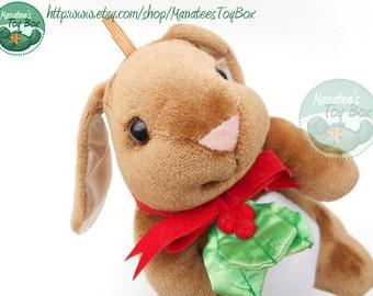 Velveteen Rabbit Plush Christmas Toy: Vintage 1980s