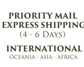 Priority Mail Upgrade International - Express Shipping to Oceania, Asia and Africa - Delivery 4-6 Days - International Orders
