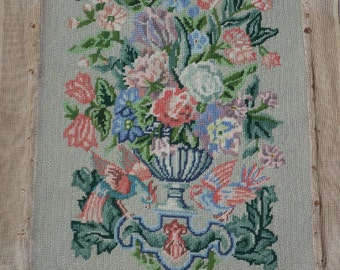 Queen Mary's Carpet 1957 completed needlepoint copy of Royal family's handmade carpet