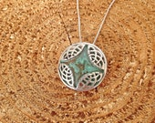 Sterling and Copper Celtic Knot Pendant / celtic jewelry / irish organic rustic Anniversary Gift Her Wife