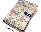Book Cover, Bible Cover, for Hardback or Paperback, Vintage Kimono Silk, Traditional Japanese Houses, UK Seller
