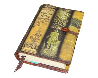 Fabric Book Sleeve Antique Victorian Books Design A, Handmade Bible Cover, Padded Book Cover, Paperback cover, UK Seller