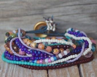 Boho Wrap Bracelet Beaded Bracelet Boho Bracelet Beaded Wrap Bracelet Bohemian Jewelry Bohemian Bracelet Boho Jewelry Gift For Her