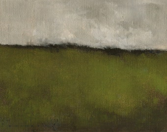 Abstract Landscape Painting by John Shanabrook - 6 x 8 - September Raining