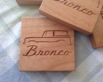 Ford Bronco coaster set