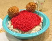 CROCHETED DINER - Spaghetti and Meatballs