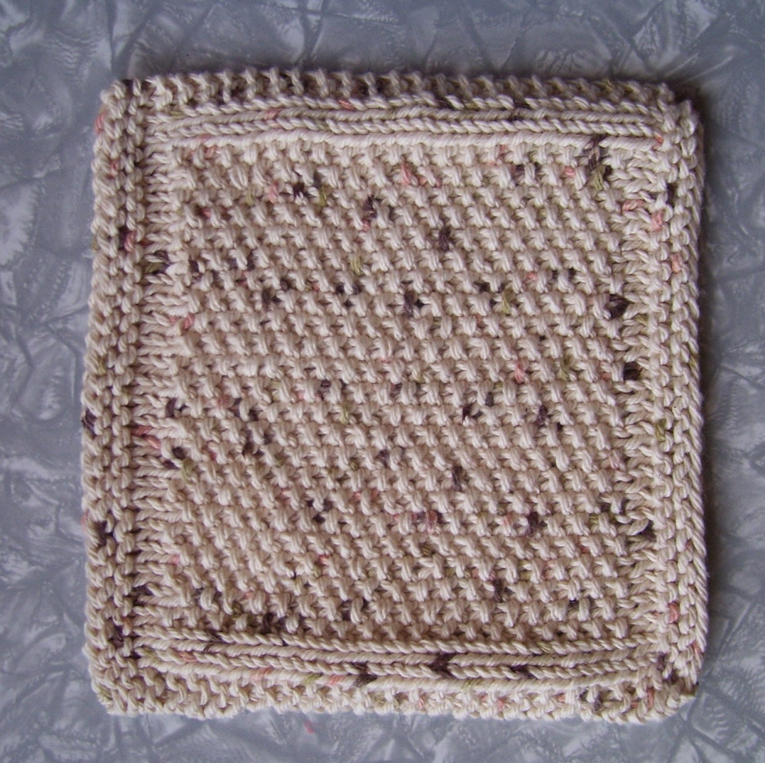 Knitted cotton dishcloth knitted cotton washcloth Home
