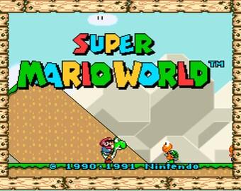 Super Mario World ~ Pixel Art decorations ~ handmade bead sprites
