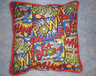Comic Book Superhero Pillows