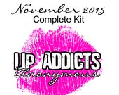 CLEARANCE SALE: November 2015 Lip Addicts Anonymous Complete Kit