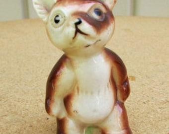 vintage 40s teddy bear cub figurine