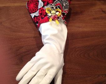 Valentines Day/dish gloves/dishwashing gloves/ cleaning gloves/rubber gloves/diva dish gloves/diva cleaning gloves/designer dish gloves
