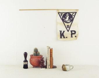 vintage flag, vintage bunting, vintage pennant, wall hanging, odd fellows, Knights of Pythias, secret society, fraternal organization,IOOF