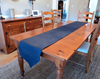 Navy Blue Table Runner Burlap Table Runner Navy Home Decor Classic Style Table Runner Nautical Table Setting Rustic Navy Wedding Tables