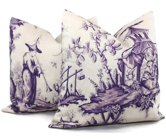 items similar to iris shengyou toile decorative pillow. Black Bedroom Furniture Sets. Home Design Ideas
