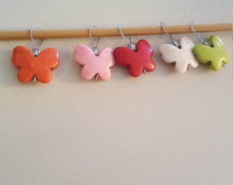 Colorful Butterfly Knitting Stitch Markers A