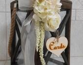 Wedding Lantern Card Holder / Rustic Wedding Decor / Country Wedding Decor / Wedding Card Holder / Wooden Lantern / Wedding Decorations