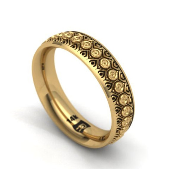 14k gold - His and her matching bands - New life