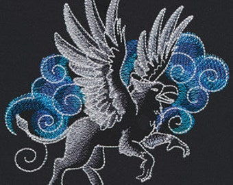Beautiful Griffins Embroidered Flour Sack Hand/Dish Towel