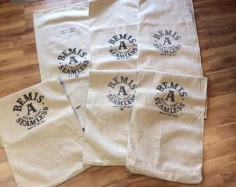 Bemis 6 pack Vintage seed sacks