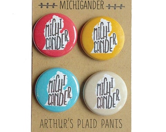 Michigan magnet set, michigander, michigan pride, mitten, magnet set