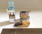 Vintage Acme Refrigerator Magnets - Water Cooler, Shopping Cart and Mini Vacuum