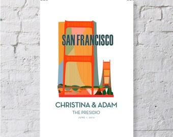 San Francisco, Golden Gate Bridge, keepsake / print