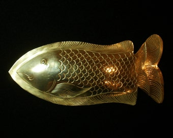 BIG BRASS FISH Pin Cool for Jewerly Upcyle Project