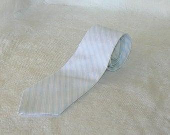 Men's blue ticking stripe tie ..classic tie..cotton tie